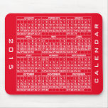 Rojo de Mousepad de 2015 calendarios Tapetes De Ratones