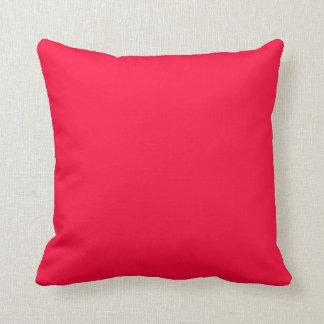 Rojo de neón anaranjado fluorescente personalizado almohada