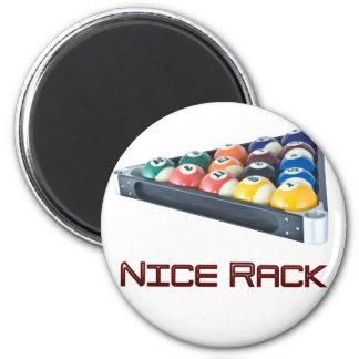 Rojo de NiceRack Imán Redondo 5 Cm