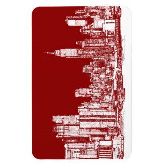 Rojo de Nueva York NYC Imanes De Vinilo