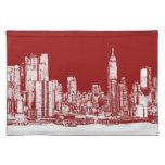 Rojo de Nueva York NYC Manteles Individuales