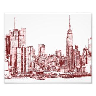 Rojo de Nueva York NYC Impresiones Fotográficas
