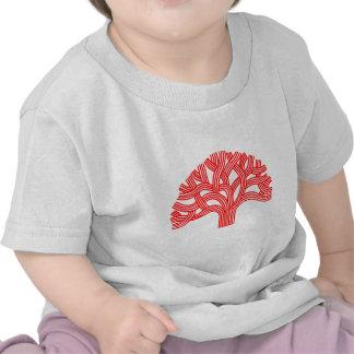 Rojo de Oakland del roble Camiseta
