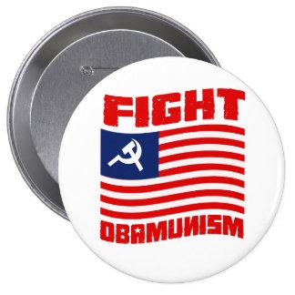 Rojo de Obamunism de la lucha Pin