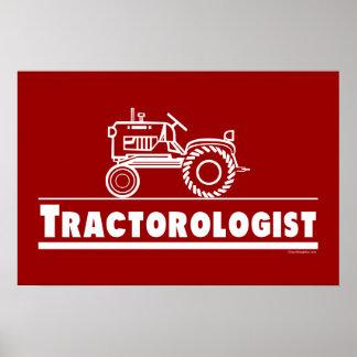 ROJO de Ologist del tractor Poster