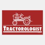 ROJO de Ologist del tractor Pegatina Rectangular
