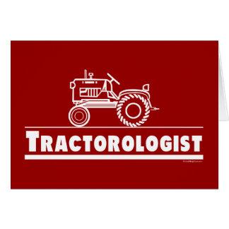 ROJO de Ologist del tractor Tarjeta De Felicitación