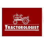 ROJO de Ologist del tractor Tarjeton