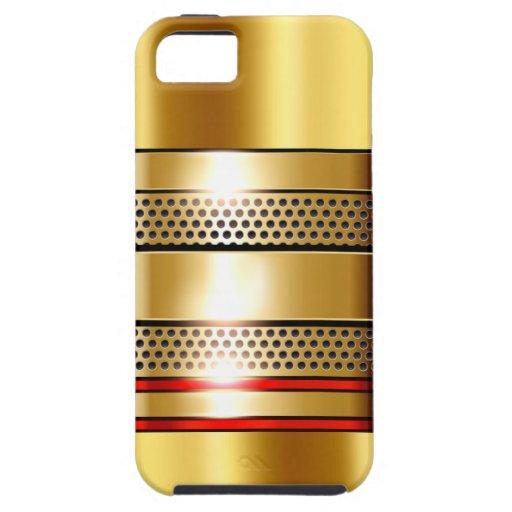 Rojo de oro del cromo 4 de la malla de la funda para iPhone SE/5/5s