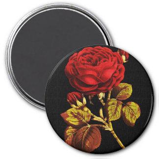 Rojo de oro pintado subió imán redondo 7 cm
