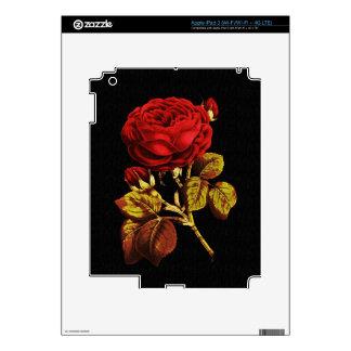 Rojo de oro pintado subió iPad 3 pegatina skin