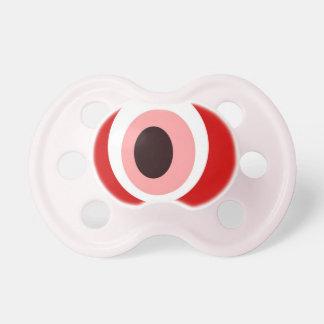 Rojo de piedra del mal de ojo chupetes de bebé