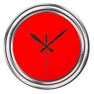Rojo de plata del coche de bomberos del capítulo n reloj redondo grande
