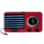 Rojo de radio del vintage altavoces de viajar
