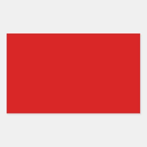 Rojo de Rosso Corsa Pegatina Rectangular