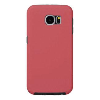 Rojo de rubíes adaptable moderno funda samsung galaxy s6