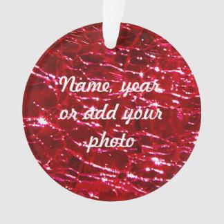 Rojo de rubíes de cristal Crackled de Birthstone