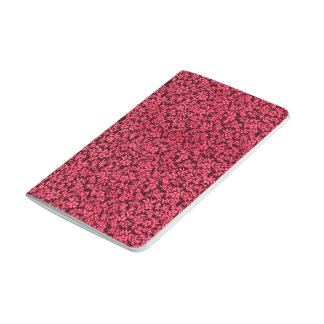 Rojo de rubíes del clarete floral del vintage cuadernos