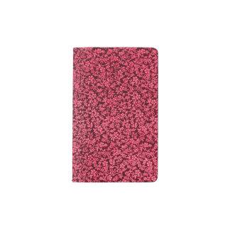 Rojo de rubíes del clarete floral del vintage funda para libreta y libreta pequeña moleskine