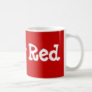 Rojo de rubíes taza de café