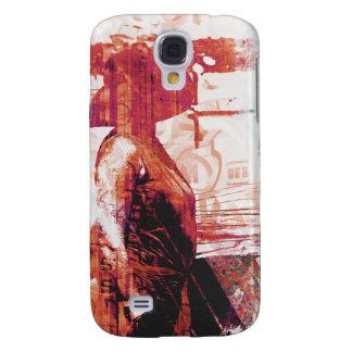 Rojo de señora Love Funda Para Galaxy S4