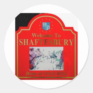 Rojo de Shaftesbury Pegatina Redonda