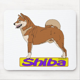 Rojo de Shiba Inu- Alfombrilla De Ratones