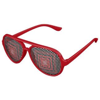 Rojo de Squareception (modelo cuadrado) Lentes De Fiesta