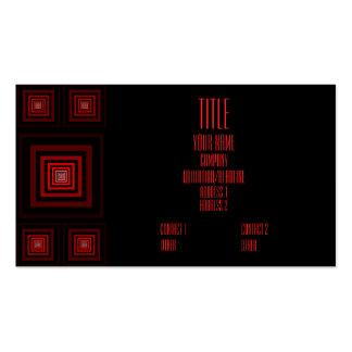 Rojo de Squareception (modelo cuadrado) Tarjetas De Visita