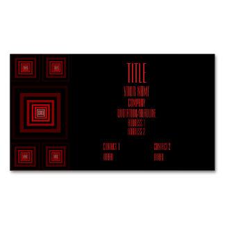 Rojo de Squareception (modelo cuadrado) Tarjetas De Visita Magnéticas (paquete De 25)