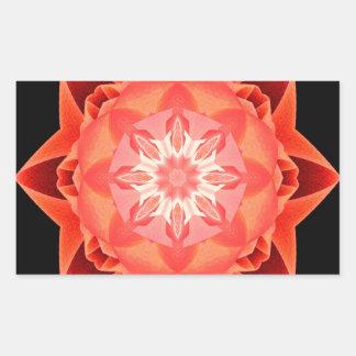 Rojo de Stardust del fractal Pegatina Rectangular