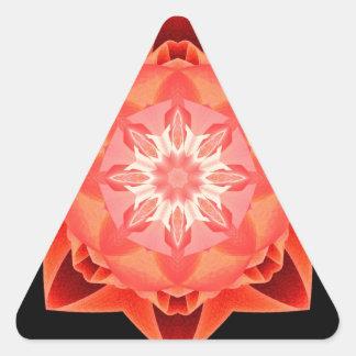 Rojo de Stardust del fractal Pegatina Triangular