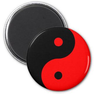 Rojo de Taijitu del chino de la muestra del Taoism Iman De Frigorífico
