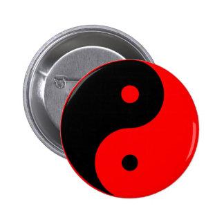 Rojo de Taijitu del chino de la muestra del Taoism Pins
