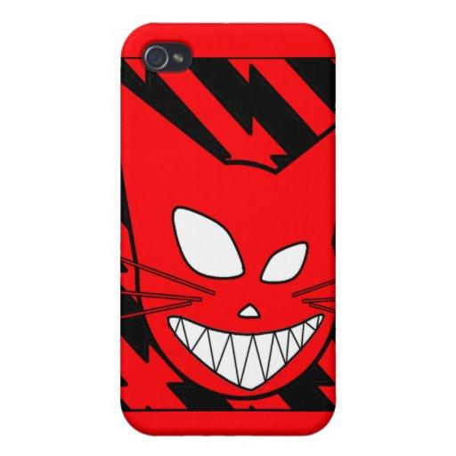 Rojo de Techi Kitteh iPhone 4/4S Carcasa