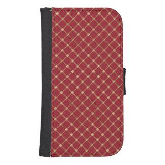 Rojo de Tudor y modelo del oro Funda Tipo Cartera Para Galaxy S4