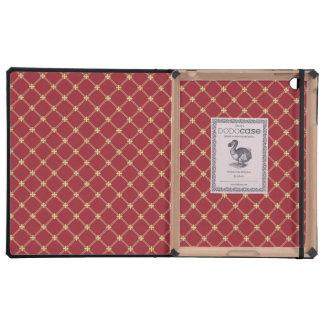 Rojo de Tudor y modelo entrecruzado del oro iPad Cárcasas