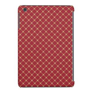 Rojo de Tudor y modelo entrecruzado del oro Funda De iPad Mini