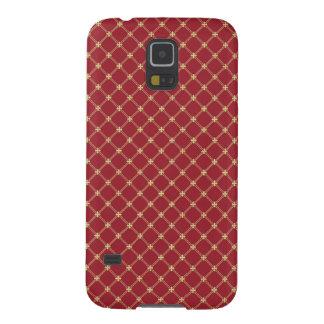 Rojo de Tudor y modelo entrecruzado del oro Funda De Galaxy S5