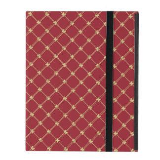 Rojo de Tudor y modelo entrecruzado del oro iPad Carcasas
