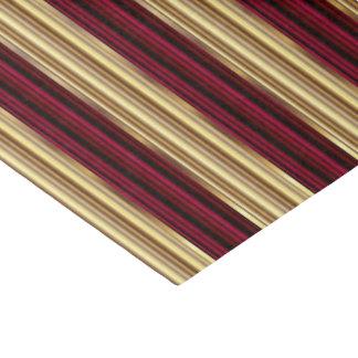 Rojo de vino y rayas grandes del oro papel de seda pequeño