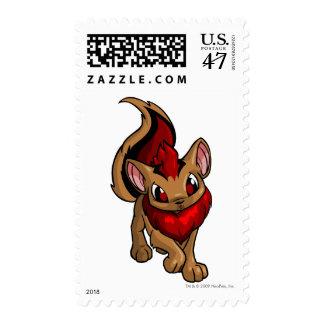 Rojo de Xweetok Sellos Postales