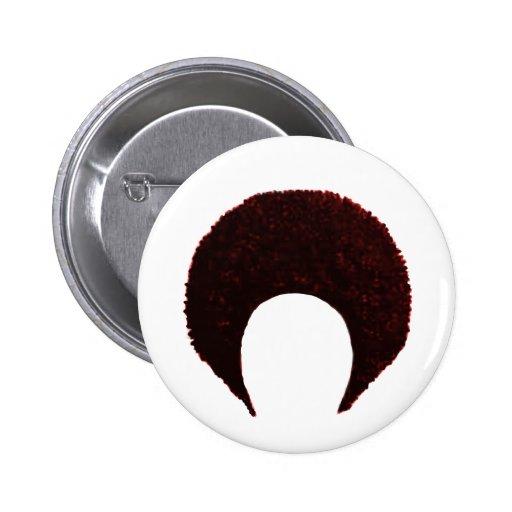Rojo del Afro los regalos de Zazzle del MUSEO Pin Redondo 5 Cm