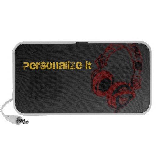 Rojo del altavoz de DJ [personalizable]