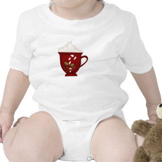 Rojo del amante del chocolate caliente con verde trajes de bebé