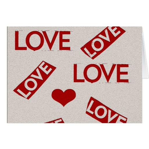 rojo del amor tarjeta de felicitación