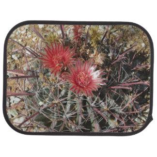 Rojo del anzuelo del cactus de barril alfombrilla de auto