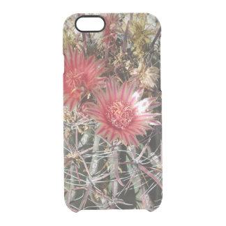 Rojo del anzuelo del cactus de barril funda clearly™ deflector para iPhone 6 de uncommon