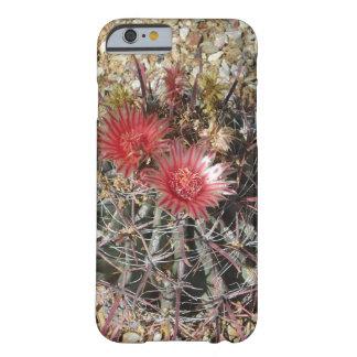 Rojo del anzuelo del cactus de barril funda de iPhone 6 barely there
