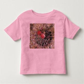 Rojo del anzuelo del cactus de barril playera de niño